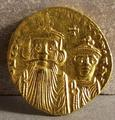 Byzantine gold solidus of<br/> Constans II. 7th century A.D.