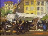Le Puy, Place du Plot by Herbert Davis Richter