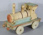 Wooden Locomotive  with original paint