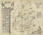 Wiltonia. Joan Blaeu. (1596-1673) <br/> Original hand-coloured <br/>map of Wiltshire