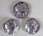 Three ancient Greek silver <br/> tetradrachms
